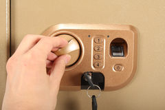 Fabric Shaver.enter the password and fingerprint Stock Photo