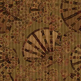 Fabric with shell pattern Stock Images
