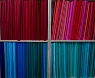 Fabric on the shelves Royalty Free Stock Image