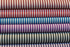 Fabric shop in India Stock Image