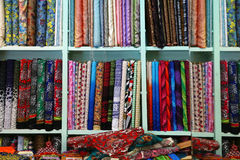 Fabric shop Stock Images