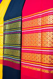 Fabric silk thai Royalty Free Stock Images