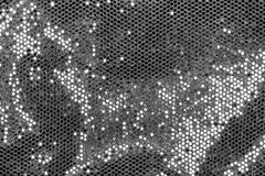 Fabric with silver sequins Royalty Free Stock Images