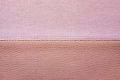 Fabric and skin are sewed together Royalty Free Stock Images