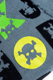 Fabric with skulls. And bones Royalty Free Stock Image