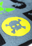 Fabric with skulls. And bones Stock Image