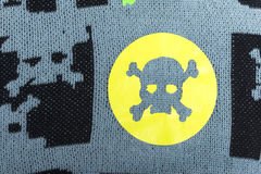 Fabric with skulls . Fabric with skulls and bones Royalty Free Stock Image