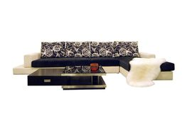 Fabric sofas Stock Images