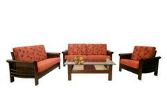 Fabric sofas Royalty Free Stock Photography