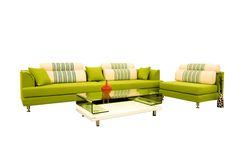 Fabric sofas. White background in the sofa stock photos