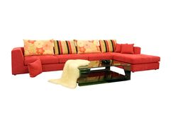 Fabric sofas Royalty Free Stock Photo