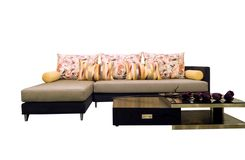 Fabric sofas Royalty Free Stock Images