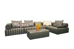 Fabric sofas. White background in the sofa stock photo