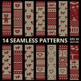 Fabric stitched background patterns Royalty Free Stock Photo