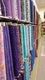 Fabric Store: Bright Colors and Patterns Royalty Free Stock Images
