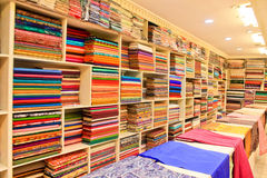 The fabric store. Textile industry, India Stock Image