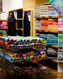 Fabric store Royalty Free Stock Images