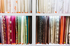 Fabric in store Stock Image