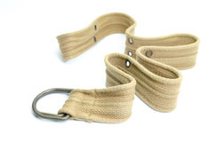 Fabric strap belt isolated on white background Royalty Free Stock Photo
