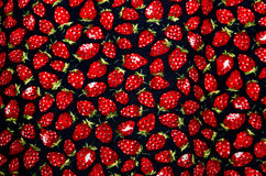 Fabric Strawberry Pattern Royalty Free Stock Photos