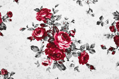 fabric striped roses. Stock Image