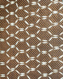 Fabric striped seamless pattern and beads Royalty Free Stock Photo