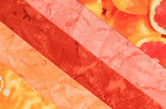 Fabric strips-Pink and Orange Stock Photography