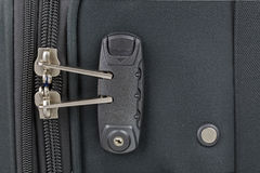 Fabric suitcase with built in luggage lock, new and clean luggag Stock Image