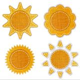 Fabric sun icon. Royalty Free Stock Photo