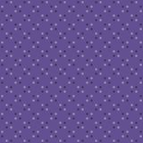 Fabric swatch with circular seamless pattern polka dot motif. Vector tileable background in ultra violet color royalty free illustration