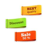 Fabric tag labels Royalty Free Stock Photography