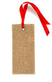 Fabric Tag  on White. Royalty Free Stock Images