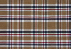Fabric Tartan pattern. Brown Stock Photos