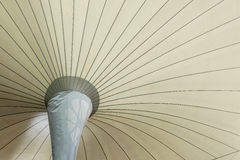 Fabric tensile roof structure. Background Royalty Free Stock Photo