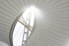 Fabric tensile roof structure Royalty Free Stock Images
