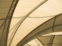 Fabric tensile roof structure. Uder of fabric tensile roof structure Stock Images