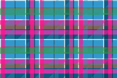 Fabric textile blue pink green check plaid seamless pattern Stock Image
