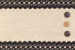 Fabric textile border Royalty Free Stock Image