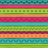 Vector illustration ethnic seamless pattern. Bright colorful print. Royalty Free Stock Photography