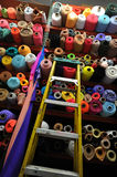 Fabric textile rolls Royalty Free Stock Photography