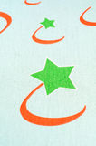 Fabric textile with star Stock Photography
