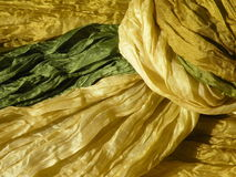 Fabric texture. Yellow - green fabric texture suitable as background Stock Image