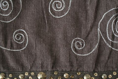 Fabric texture. Close up shot of brown fabric background Royalty Free Stock Photos
