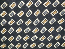 Fabric texture. Black fabric texture with square Royalty Free Stock Images