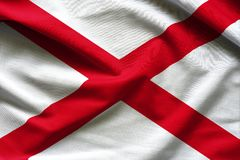 Fabric texture of the Alabama Flag - Flags from the USA stock photos