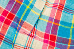 Fabric texture. The background checkered cloth texture of the Stock Photos