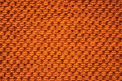 Orange fabric pattern textile background Stock Image