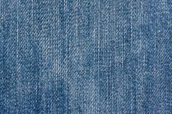Fabric texture blue jean Stock Images