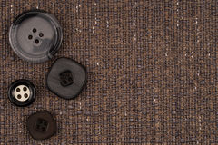 Fabric texture with buttons Royalty Free Stock Image
