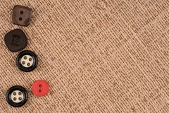 Fabric texture with buttons Royalty Free Stock Photo